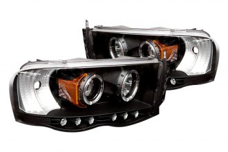 Spyder® PRO-YD-DR02-HL-BK - Black Halo Projector Headlights with LEDs