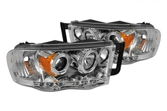 Spyder® PRO-YD-DR02-HL-C - Chrome Halo Projector Headlights with LEDs