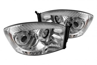 Spyder® PRO-YD-DR06-HL-C - Chrome Halo Projector Headlights with LEDs