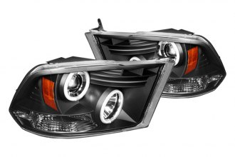 Spyder® PRO-YD-DR09-CCFL-BK - Black CCFL Halo Projector Headlights with LEDs