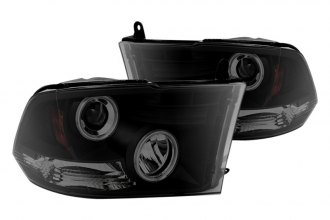 Spyder® - Black Smoke Halo Projector Headlights with LEDs