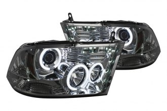 Spyder® PRO-YD-DR09-CCFL-SM - Smoke CCFL Halo Projector Headlights with LEDs