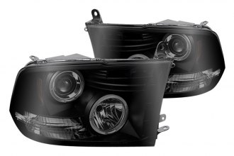 Spyder® PRO-YD-DR09-HL-BSM - Black Smoke Halo Projector Headlights with LEDs