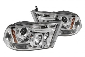 Spyder® PRO-YD-DR09-HL-C - Chrome Halo Projector Headlights with LEDs