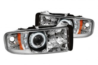 Spyder® PRO-YD-DR94-CCFL-C - Chrome CCFL Halo Projector Headlights with LEDs