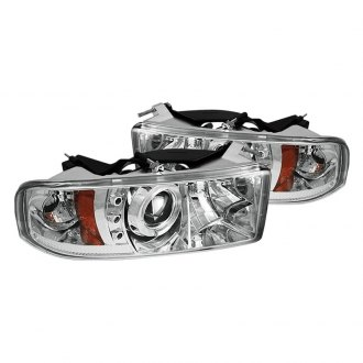 Spyder® - Chrome Halo Projector Headlights with LEDs