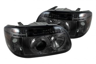 Spyder® PRO-YD-FEXP95-HL-1PC-SM - Smoke Halo Projector Headlights with LEDs