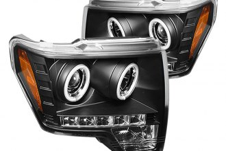 Spyder® PRO-YD-FF15009-CCFL-BK - Black CCFL Halo Projector Headlights with LEDs