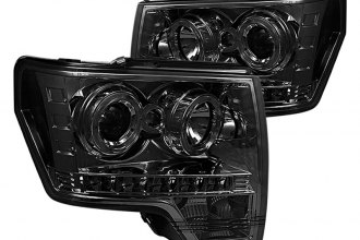 Spyder® PRO-YD-FF15009-HL-SM - Smoke Halo Projector Headlights with LEDs