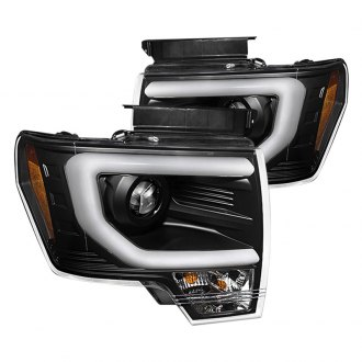 Spyder® - Black Projector Headlights with Light Bar DRL