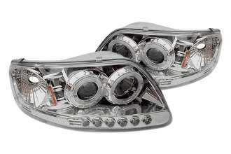 Spyder® PRO-YD-FF15097-1P-AM-C - Chrome Halo Projector Headlights with LEDs