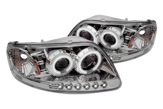 Spyder® PRO-YD-FF15097-1P-CCFL-C - Chrome CCFL Halo Projector Headlights with LEDs