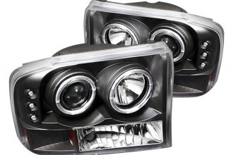 Spyder® - Black Halo Projector Headlights with LEDs G2