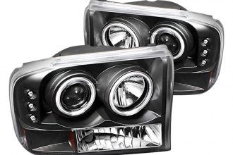Spyder® PRO-YD-FF25099-1P-G2-CCFL-BK - Black CCFL Halo Projector Headlights with LEDs G2