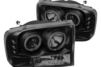 Spyder® - Black Smoke Halo Projector Headlights with LEDs G2