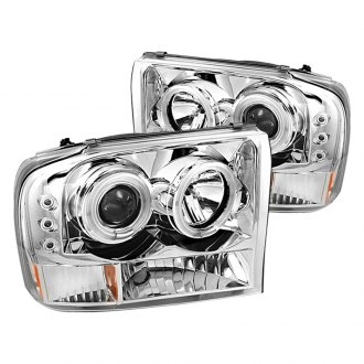 Spyder® - Chrome Halo Projector Headlights with LEDs G2