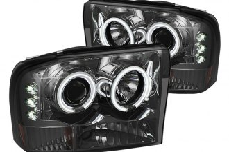 Spyder® PRO-YD-FF25099-1P-G2-CCFL-SM - Smoke CCFL Halo Projector Headlights with LEDs G2