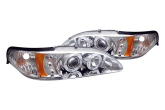 Spyder® PRO-YD-FM94-1PC-AM-C - Chrome Halo Projector Headlights with LEDs