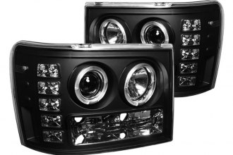 Spyder® PRO-YD-GS07-HL-BK - Black Halo Projector Headlights with LEDs