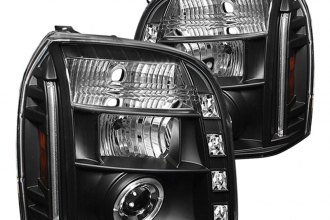 Spyder® PRO-YD-GY07-HL-BK - Black Halo Projector Headlights with LEDs