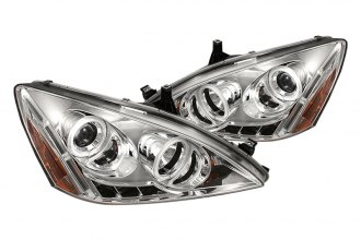 Spyder® PRO-YD-HA03-CCFL-C - Chrome CCFL Halo Projector Headlights with LEDs