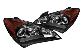 Spyder® - Black Halo Projector Headlights with LED DRL