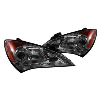 Spyder® - Smoke Halo Projector Headlights with LED DRL