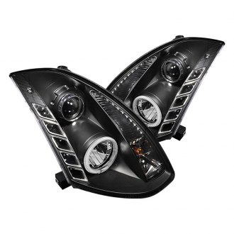 Spyder® PRO-YD-IG35032D-CCFL-DRL-BK - Black CCFL Halo Projector Headlights with LEDs