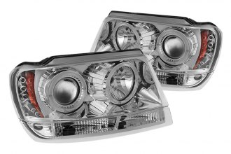Spyder® PRO-YD-JGC99-HL-C - Chrome Halo Projector Headlights with LEDs