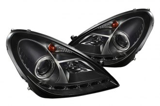 Spyder® PRO-YD-MBSLK05-DRL-BK - Black Halo Projector Headlights with LEDs