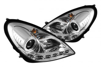 Spyder® PRO-YD-MBSLK05-DRL-C - Chrome Halo Projector Headlights with LEDs