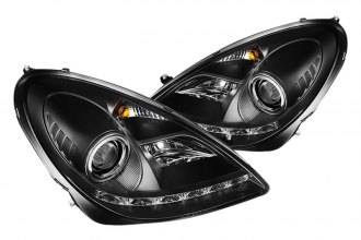 Spyder® PRO-YD-MBSLK05-HID-DRL-BK - Black Projector Headlights with LEDs