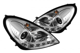 Spyder® PRO-YD-MBSLK05-HID-DRL-C - Chrome Halo Projector Headlights with LEDs