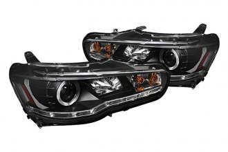 Spyder® PRO-YD-ML08-DRL-BK - Black Halo Projector Headlights with LED DRL