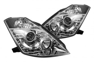 Spyder® PRO-YD-N350Z02-HID-DRL-C - Chrome Projector Headlights with LEDs