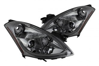 Spyder® - Smoke Halo Projector Headlights with Light Tube DRL