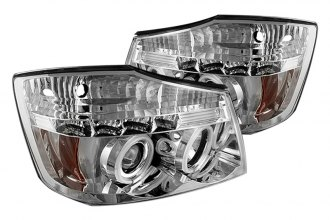 Spyder® PRO-YD-NTI04-CCFL-C - Chrome CCFL Halo Projector Headlights with LEDs