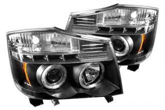 Spyder® PRO-YD-NTI04-HL-BK - Black Halo Projector Headlights with LEDs