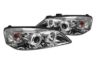 Spyder® PRO-YD-PG605-CCFL-C - Chrome CCFL Halo Projector Headlights with LEDs