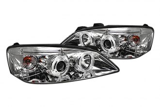Spyder® PRO-YD-PG605-HL-C - Chrome Halo Projector Headlights with LEDs