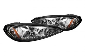 Spyder® PRO-YD-PGAM99-HL-C - Chrome Halo Projector Headlights with LEDs
