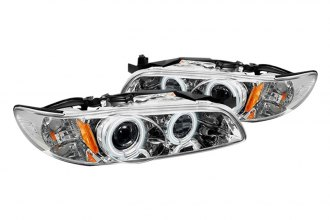 Spyder® PRO-YD-PGP97-1PC-CCFL-C - Chrome CCFL Halo Projector Headlights with LEDs