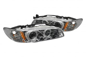 Spyder® PRO-YD-PGP97-1PC-HL-C - Chrome Halo Projector Headlights with LEDs