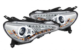 Spyder® PRO-YD-SFRS12-CCFL-C - Chrome CCFL Halo Projector Headlights with LEDs