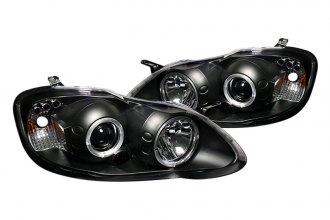 Spyder® PRO-YD-TC03-HL-BK - Black Halo Projector Headlights with LEDs