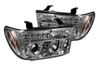 Spyder® PRO-YD-TTU07-HL-C - Chrome Halo Projector Headlights with LEDs