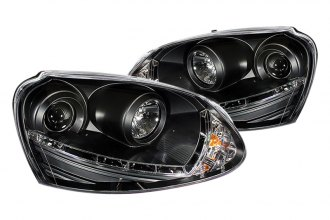 Spyder® PRO-YD-VG06-HID-DRL-BK - Black Projector Headlights with LEDs