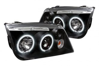 Spyder® PRO-YD-VJ99-CCFL-BK - Black CCFL Halo Projector Headlights with LEDs