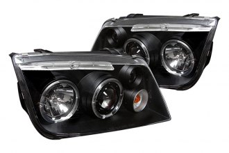 Spyder® PRO-YD-VJ99-HL-BK - Black Halo Projector Headlights with LEDs