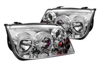 Spyder® PRO-YD-VJ99-HL-C - Chrome Halo Projector Headlights with LEDs